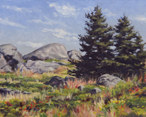 Lobster Cove Pines, oil paintng by Will Kefauver