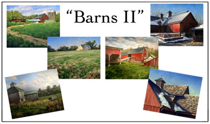 Barns II Notecard Set, Will Kefauver