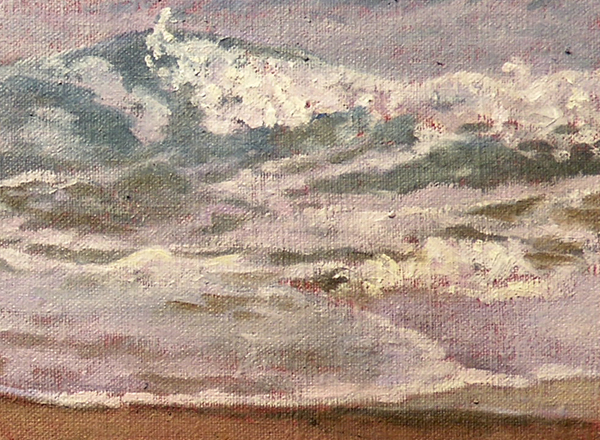 """Wave"", painting in progress, detail, Will Kefauver"