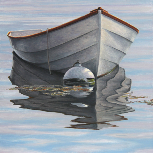 "Will Kefauver, oil on canvas, ""Dinghy"""