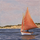 "Will Kefauver oil painting, ""Red Sails"""