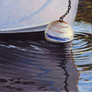 "Will Kefauver oil painting, ""Ripples 'n' Float"""