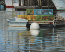 "Will Kefauver oil painting, ""South Bristol Float"""