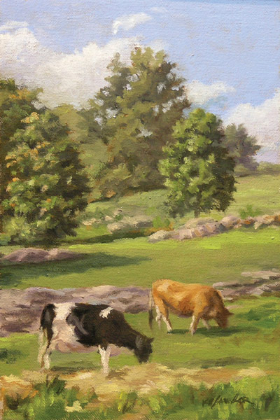 Cows, Will Kefauver Painting