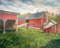 """Hay Barn"", Oil on Linen by Will Kefauver"