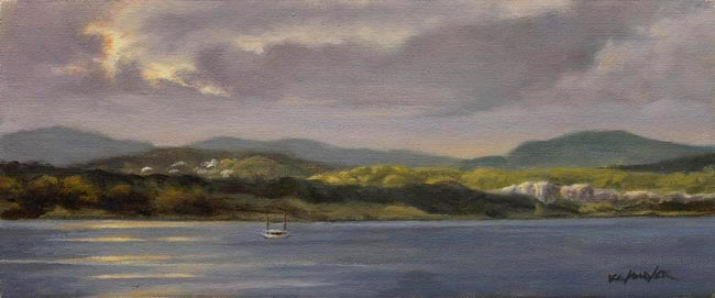 "Will Kefauver Painting, ""Hudson Hills"", Hudson River, New York"