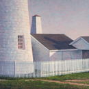 "Will Kefauver oil painting, ""Afternoon Light, Pemaquid"""