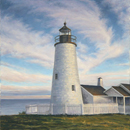 "Will Kefauver oil painting, ""Pemaquid Light II"""