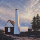 "Will Kefauver oil painting, ""Pemaquid Dusk III"""
