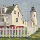 "Will Kefauver oil painting, ""Pemaquid Fence"""
