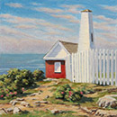 "Will Kefauver oil painting, ""Pemaquid Path"""