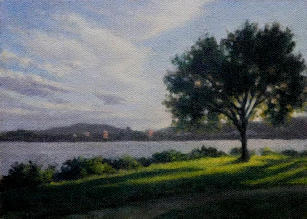 "Will Kefauver Painting, ""Shadow Point"" Hudson River"