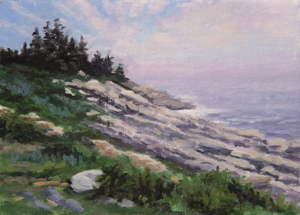 "Will Kefauver oil painting, ""Down to the Sea"""