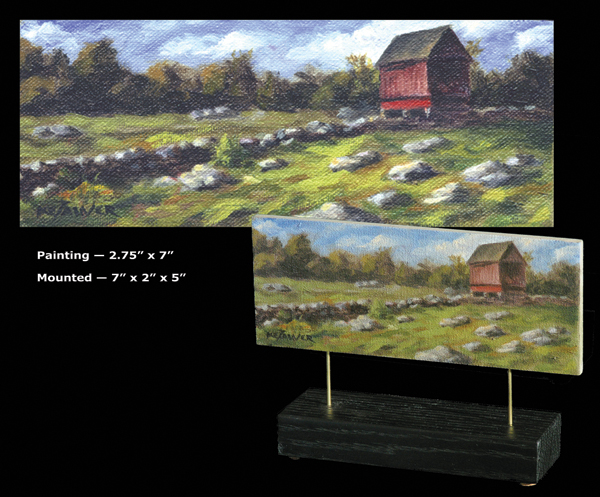 "Will Kefauver, Painting, ""Ashlawn Farm"", Petitte Tableaux"