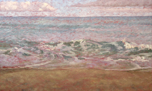 Will Kefauver, painting, Beach in Progress detail III