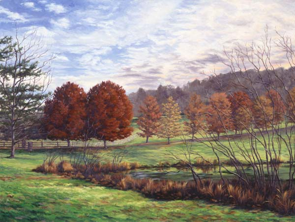 "Will Kefauver oil painting, ""Afternoon Farm, Route 121"""