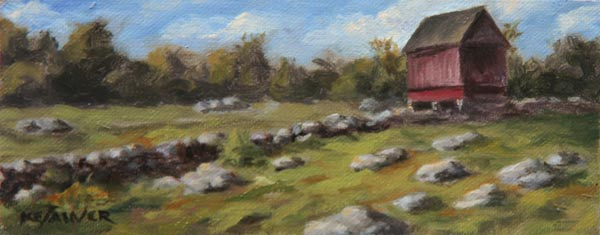 "Will Kefauver oil painting, ""Ashlawn Farm"""