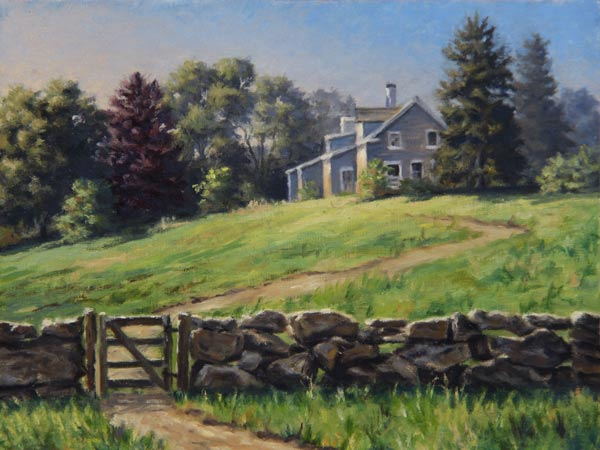 "Will Kefauver oil painting, ""Beetlebung Farm I"""