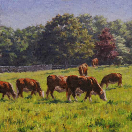 "Will Kefauver, Painting, ""Grazing"""