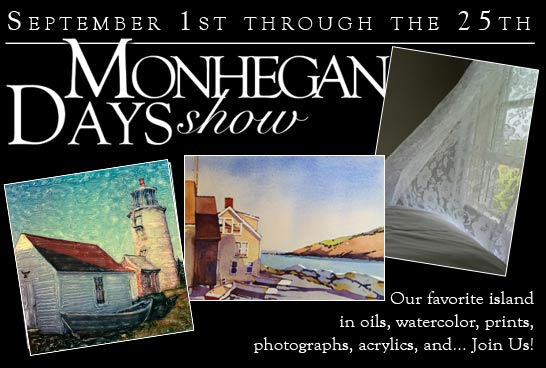 Monhegan Days Art Exhibit info