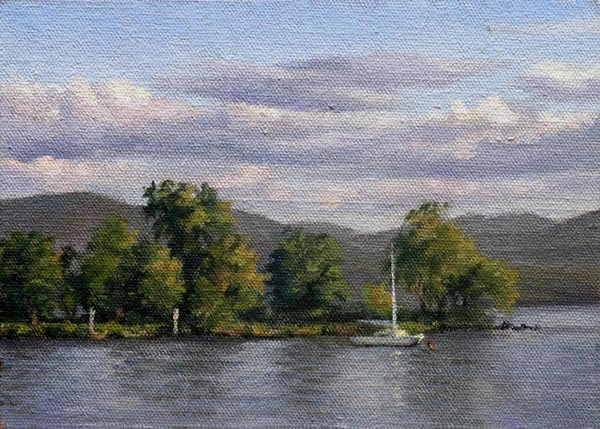 "Will Kefauver Hudson River Paintings, ""Long Dock, Beacon"""