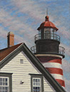 "Will Kefauver original oil, ""Quoddy Head Light"""