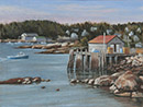 "Will Kefauver original oil, ""Stonington Harbor"""