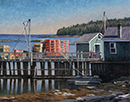 "Will Kefauver oil painting, ""Lobster Wharf"""