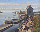 "Will Kefauver original oil, ""Safe Harbor"""