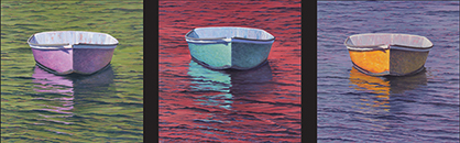 "Will Kefauver oil paintings, ""Skiff Series — trypchic"""