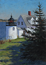 "Will Kefauver oil paintings, ""Vinalhaven Light"""