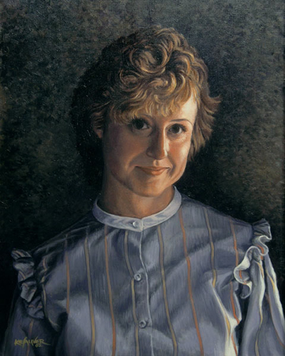 "Will Kefauver portrait in oils, ""Amy in Her 20s"""