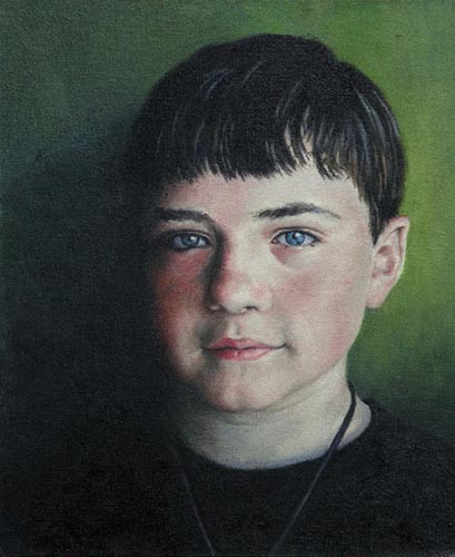 "Will Kefauver portrait in oils, ""Jack at 12"""