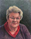 "Will Kefauver portrait in oils, ""Margo"""