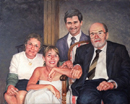 "Will Kefauver portrait in oils, ""The O'Shea Family"""