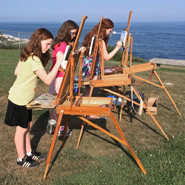 Kefauver Studio & Gallery students painting at Pemaquid Point