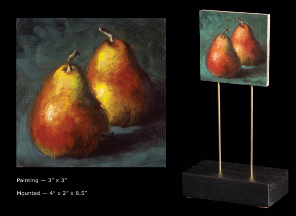 "Will Kefauver, Painting, ""Two Pear"", petits tableaux"